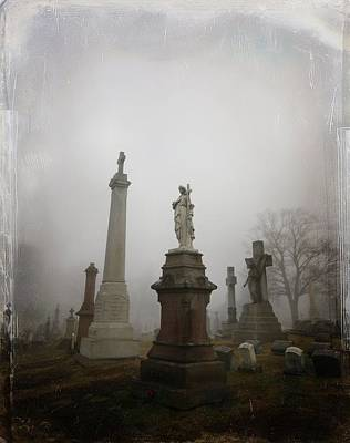 Graveyard Morning Poster by Gothicolors Donna Snyder
