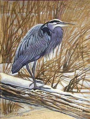 Gray Heron Poster