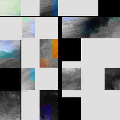 Gray Series Four Abstract Art Poster