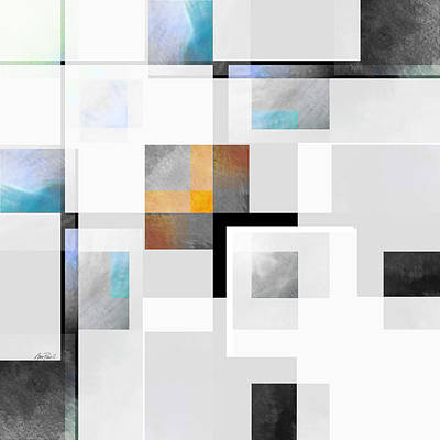 Gray Series Three Abstract Art Poster