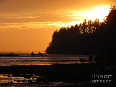 Grays Harbor Sunset I Poster