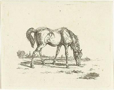 Grazing Horse To Right, Jan Dasveldt Poster