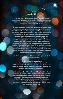 Great Bible Verses For Christmas Poster