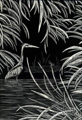 Great Blue Heron Poster by Terri Mills