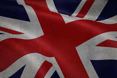 Great Britains Flag Waving On Canvas Poster by Eti Reid