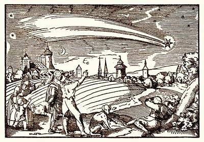 Great Comet Of 1577 Poster by Detlev Van Ravenswaay