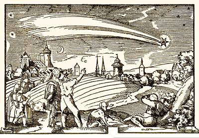 Great Comet Of 1577, Historical Artwork Poster by Science Photo Library