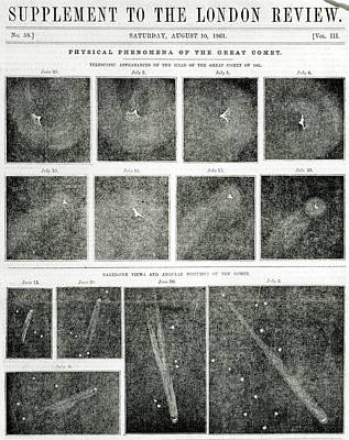 Great Comet Of 1861 Poster by Royal Astronomical Society