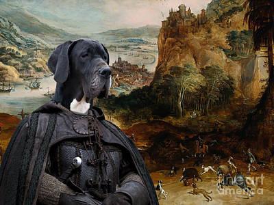 Great Dane Art - The Boar Hunt Poster