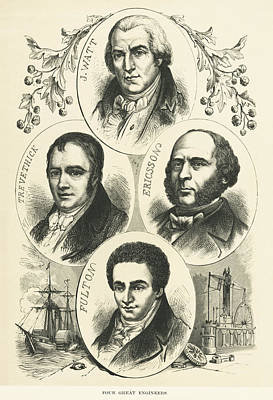 Great Engineers And Inventors Poster by Underwood Archives