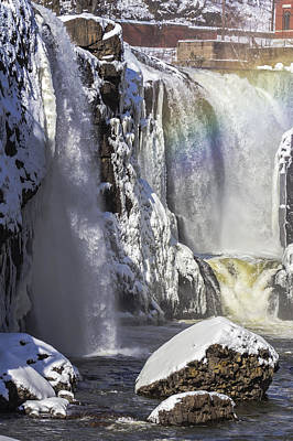 Great Falls And A Rainbow Poster