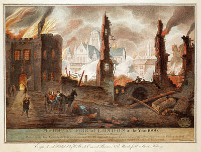 Great Fire Of London Poster by British Library