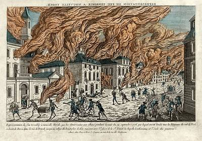 Great Fire Of New York, 1776 Poster by Science Photo Library