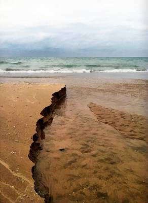 Great Lakes Shoreline Poster by Michelle Calkins