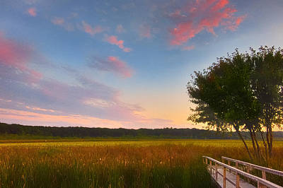 Great Meadows Late Summer Setting Poster by Sylvia J Zarco