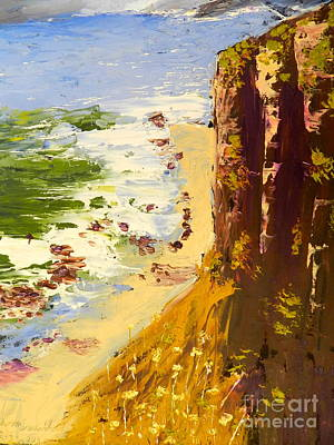 Poster featuring the painting Great Ocean Road by Pamela  Meredith