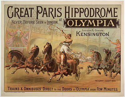 Great Paris Hippodrome At Olympia Poster by British Library
