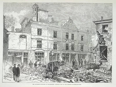 Great Scotland Yard Explosion Poster by British Library