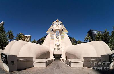 Great Sphinx Of Giza Luxor Resort Las Vegas Poster by Edward Fielding