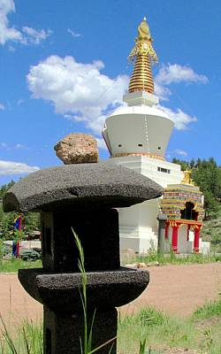 Poster featuring the photograph Great Stupa Of Dharmakaya by Brenda Pressnall