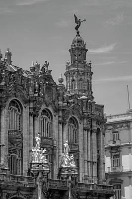 Great Theatre Of Havana  Havana, Cuba Poster by David Chapman
