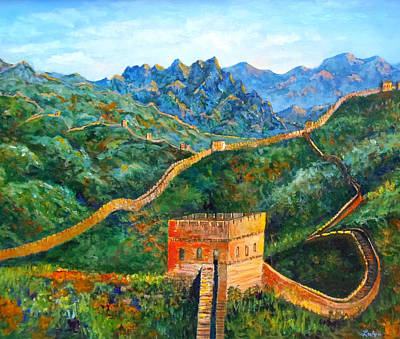 Great Wall Poster by Lou Ann Bagnall
