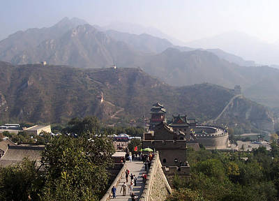 Great Wall Of China At Badaling Poster