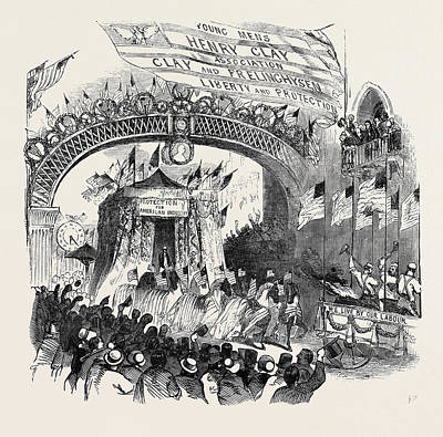 Great Whig Mass Meeting At New York Poster