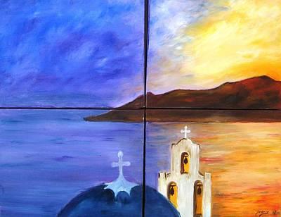 Greece Poster by Doris Cohen