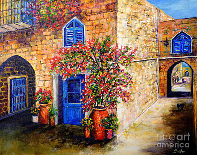 Poster featuring the painting Greek Bouganvillia by Lou Ann Bagnall