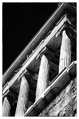 Greek Columns Poster by John Rizzuto