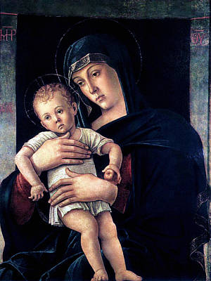 Poster featuring the painting Greek Madonna With Child 1464 Giovanni Bellini by Karon Melillo DeVega