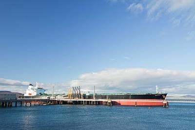 Greek Oil Tanker Docked In Scotland Poster by Ashley Cooper