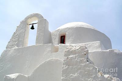 Greek Orthodox Church- Santorini Poster by Sarah Christian