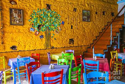 Greek Taverna Poster by Eleni Mac Synodinos