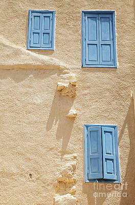 Greek Windows Poster by Neil Overy