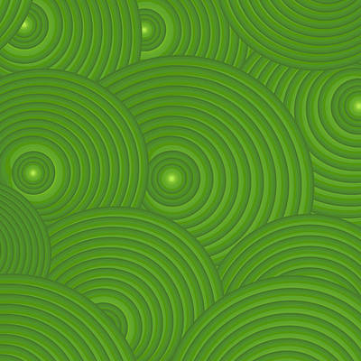 Green Abstract Poster by Frank Tschakert