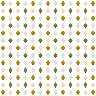 Green And Gold Diamond Pattern Poster by Christina Rollo