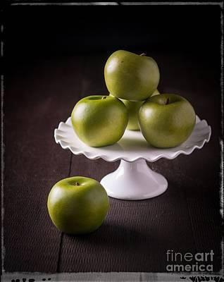 Green Apple Still Life Poster