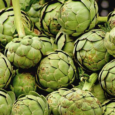 Green Artichokes Poster by Art Block Collections
