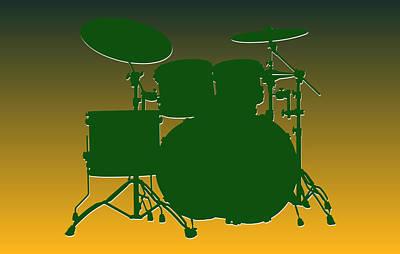 Green Bay Packers Drum Set Poster by Joe Hamilton