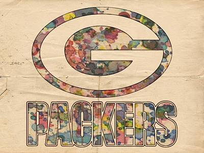 Green Bay Packers Poster Art Poster by Florian Rodarte