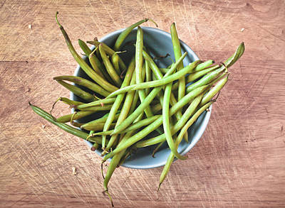 Green Beans Poster by Tom Gowanlock