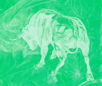 Green Bull Negative Poster