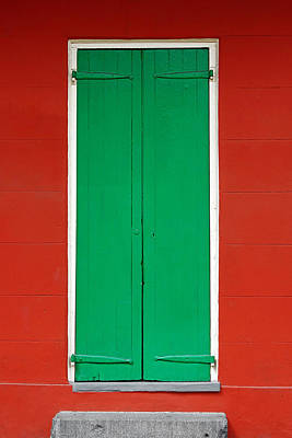 Green Door In New Orleans Poster by Christine Till