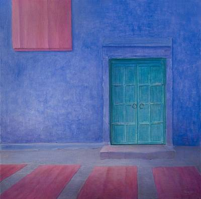 Green Door Jodhpur, 2010 Acrylic On Canvas Poster by Lincoln Seligman