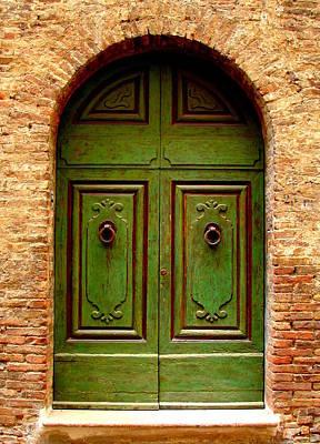 Green Door Poster by Ramona Johnston