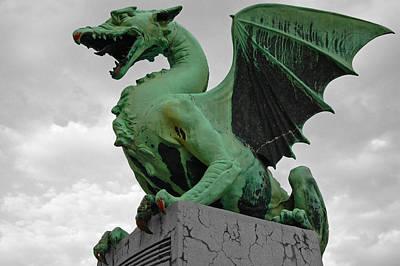 Green Dragon In Ljubljana Poster by Aleksandar Hajdukovic