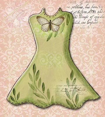 Green Dress Poster by Elaine Jackson