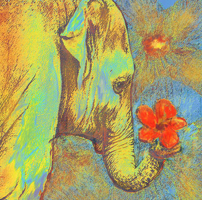 Green Elephant Poster